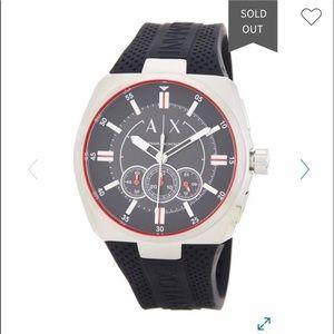 NIB AX Armani Trimeter Chronograph Silicone Watch